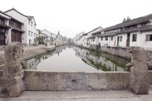 西兴官河及岸边的江南图片.别墅王鹏摄360民居记者平米图片