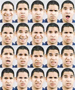 研究发现:人脸表情有21种图片
