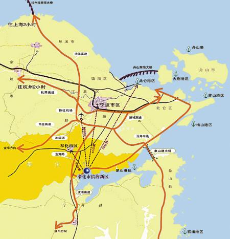 奉化经济开发区滨海新区地图