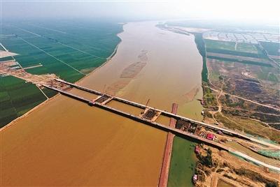 郑济高铁 郑州黄河特大桥 建设全面展开