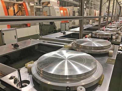 江丰电子全球首条集成电路用溅射靶材机加工生产线.