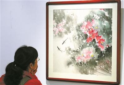 """""""叠彩丹青""""俞良忠书画展在117艺术中心开展"""
