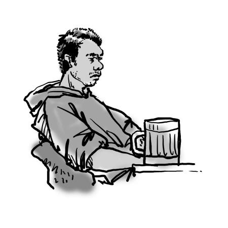 独自喝酒的男人
