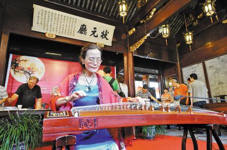 古筝表演 记者 胡龙召摄-琴棋书画 花好月圆