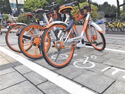 共享单车怎样文明停放?看看宁波做法:划停车位,政企共