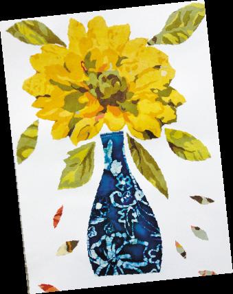 瓶花(布贴画)