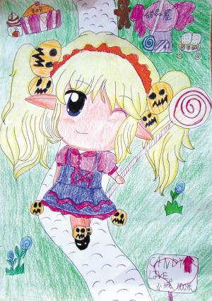 棒棒糖女孩(卡通画)