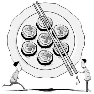 饭菜简笔画-那些令营养师头疼的饮食 迷信